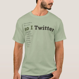 Camiseta assim mim Twitter (verde)