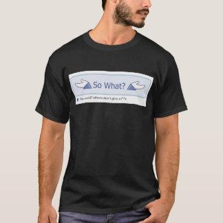 Camiseta Assim que? (Preto do botão de Facebook)