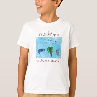 Camiseta Assim T do bar de chocolate para miúdos