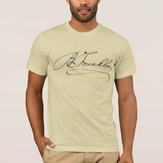 Camiseta Assinatura de Ben Franklin