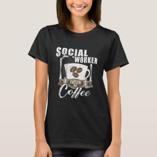 Camiseta Assistente social abastecido pelo café