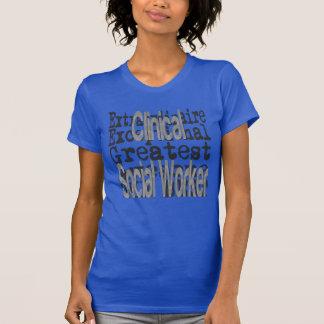 Camiseta Assistente social clínico Extraordinaire
