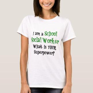 Camiseta assistente social da escola