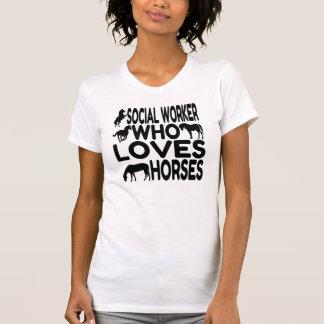 Camiseta Assistente social do amante do cavalo