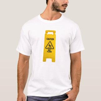 Camiseta Assoalho molhado do cuidado
