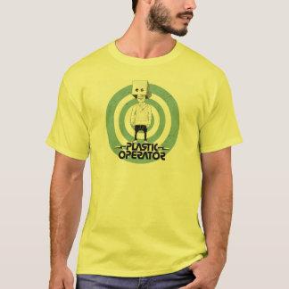 Camiseta Assoalho plástico do logotipo do caráter do