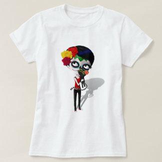 Camiseta Assustador Diâmetro de Los Muertos Menina