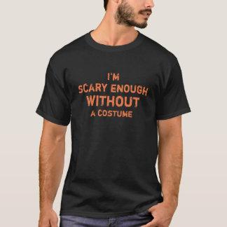 Camiseta Assustador divertido bastante sem um traje o Dia