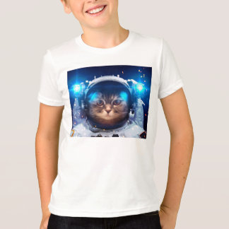 Camiseta Astronauta do gato - gatos no espaço - espaço do
