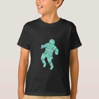 Camiseta Astronauta que flutua no desenho do espaço
