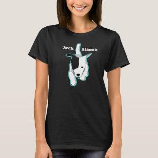 Camiseta Ataque de Jack - t-shirt preto de Jack Russell