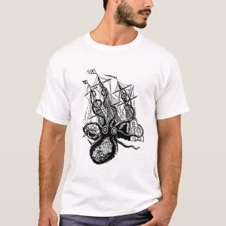 Camiseta Ataque de Kraken! Ataque gigante do polvo