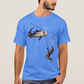 Camiseta Ataque do tubarão na mangueira de ar do