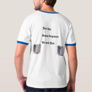 Camiseta Ataque no t-shirt do regimento dos escuteiros do