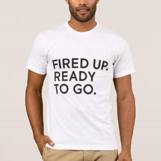 Camiseta Ateado fogo acima, apronte para ir t-shirt unisex