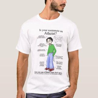 Camiseta Ateu do companheiro de quarto