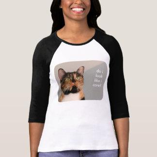 Camiseta Atitude gorda de w do gato, eu olho como eu me