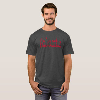 CAMISETA ATLANTA AFLIGIU O T-SHIRT DO DESIGN