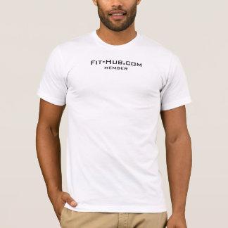 Camiseta Atlético-ajustado T do membro do Ajustado-Cubo