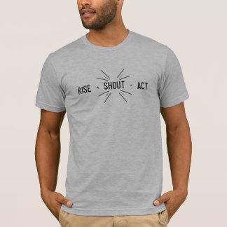 Camiseta Ato do ^ do grito do ^ da elevação