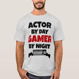 Camiseta Ator pelo Gamer do dia em a noite
