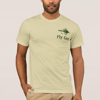 Camiseta Atração verde da pesca com mosca da camuflagem