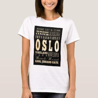 Camiseta Atrações e lugares famosos de Oslo, Noruega