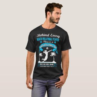 Camiseta Atrás do jogador de voleibol da praia há um T do