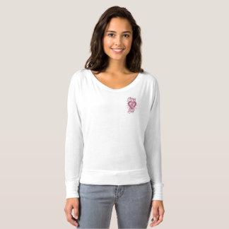 Camiseta Através de seu T do bolso do cancro da mama do