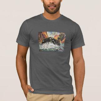 Camiseta Através do inferno e do ponto alto