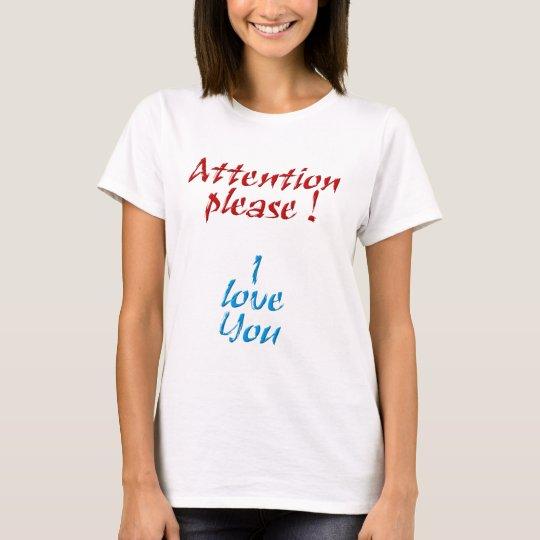 Camiseta Attention please
