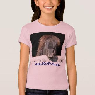 Camiseta Atti-PÔNEI-tude!  Cara do pônei