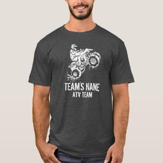 Camiseta ATV toda a equipe (customizável) do veículo do