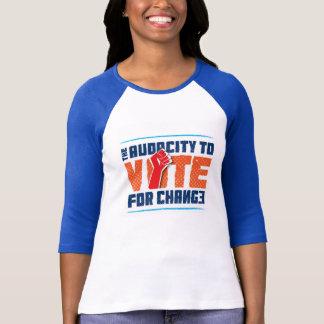 Camiseta Audácia a votar para o t-shirt do basebol da