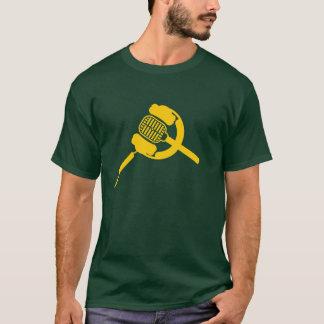 Camiseta Áudio da cera - o t-shirt cabido dos homens