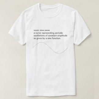 Camiseta audio da onda de seno do amante
