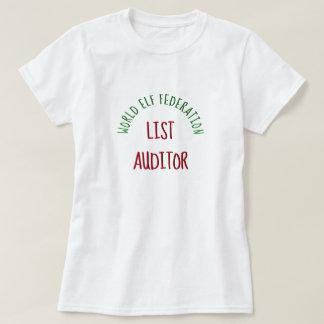 Camiseta Auditor da lista da federação do duende do mundo