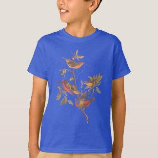 Camiseta Audubon pintou pássaros da estamenha na árvore de