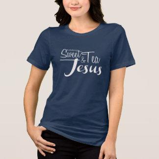 Camiseta Aumentado no chá e em Jesus doces