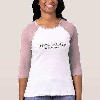 Camiseta Aumentar objectivas triplas #Exhausted o 3/4 de