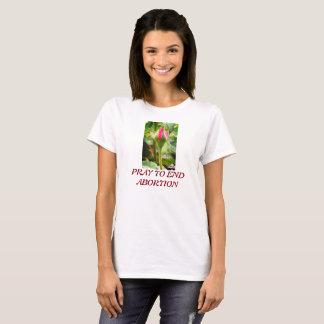 Camiseta Aumentou o t-shirt do aborto do fim