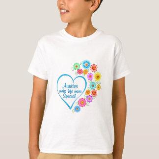 Camiseta Auntie Especial Coração