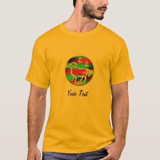 Camiseta Aura da cor do sinal da estrela do zodíaco do