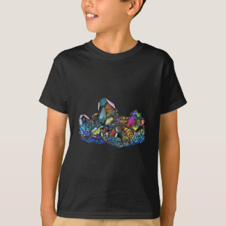 Camiseta Aura de cristal cura do arco-íris da arte de
