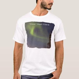Camiseta Aurora boreal macia; Customizável