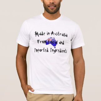 Camiseta Austrália dos ingredientes locais e importados