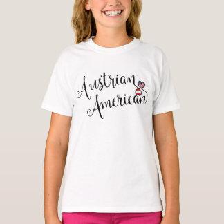 Camiseta austríaca dos corações de Entwinted do