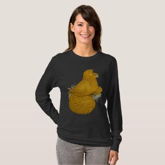 Camiseta Auto do amarelo do pombo da trompetista