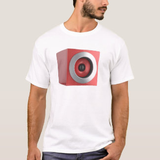 Camiseta Auto-falante vermelho
