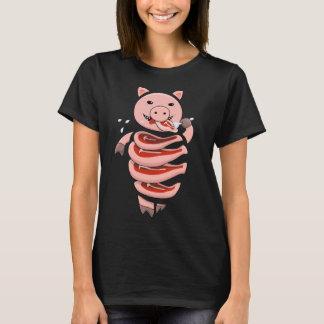Camiseta Auto que come o porco do canibal cortado em